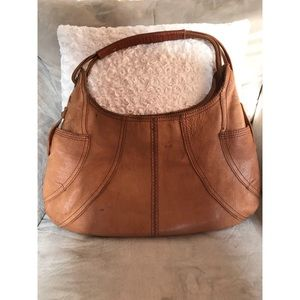Large Leather Lucky Brand Tote